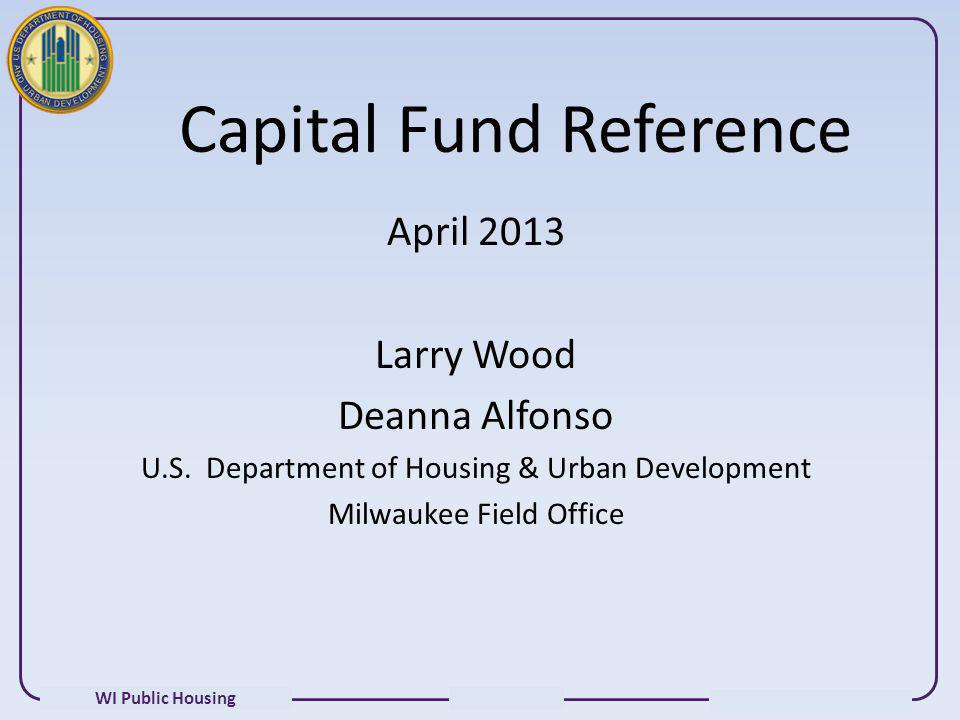 Capital Fund Reference