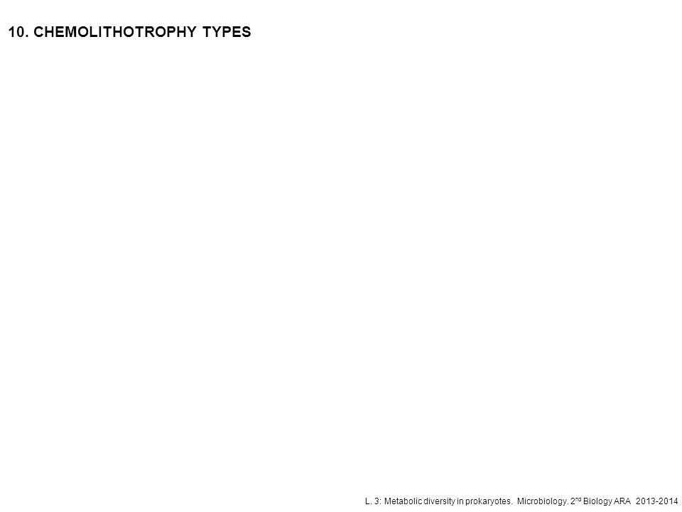 10. CHEMOLITHOTROPHY TYPES