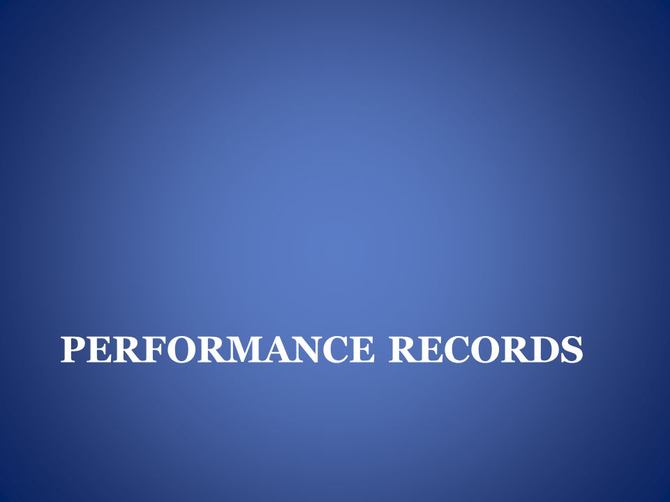 Performance records