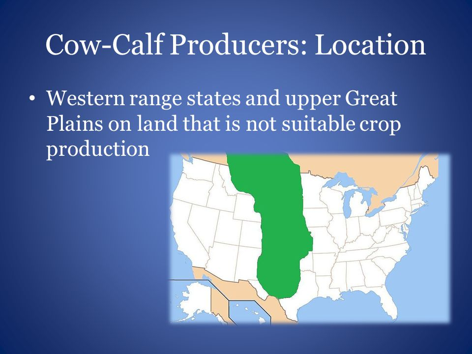 Cow-Calf Producers: Location