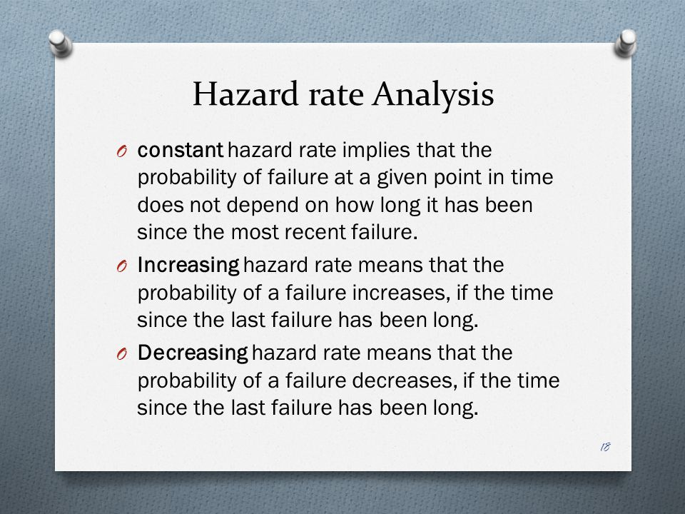 Hazard rate Analysis