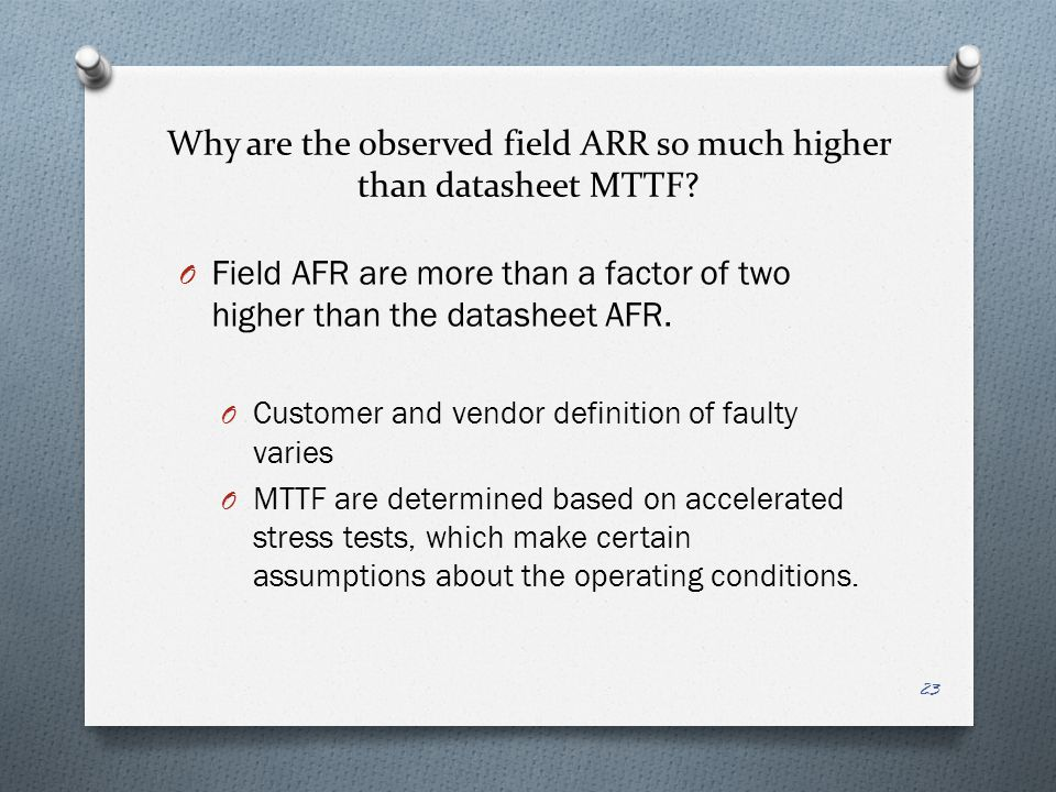 Why are the observed field ARR so much higher than datasheet MTTF