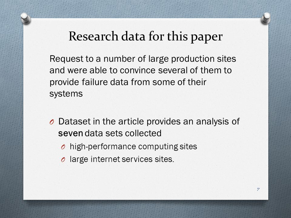 Research data for this paper