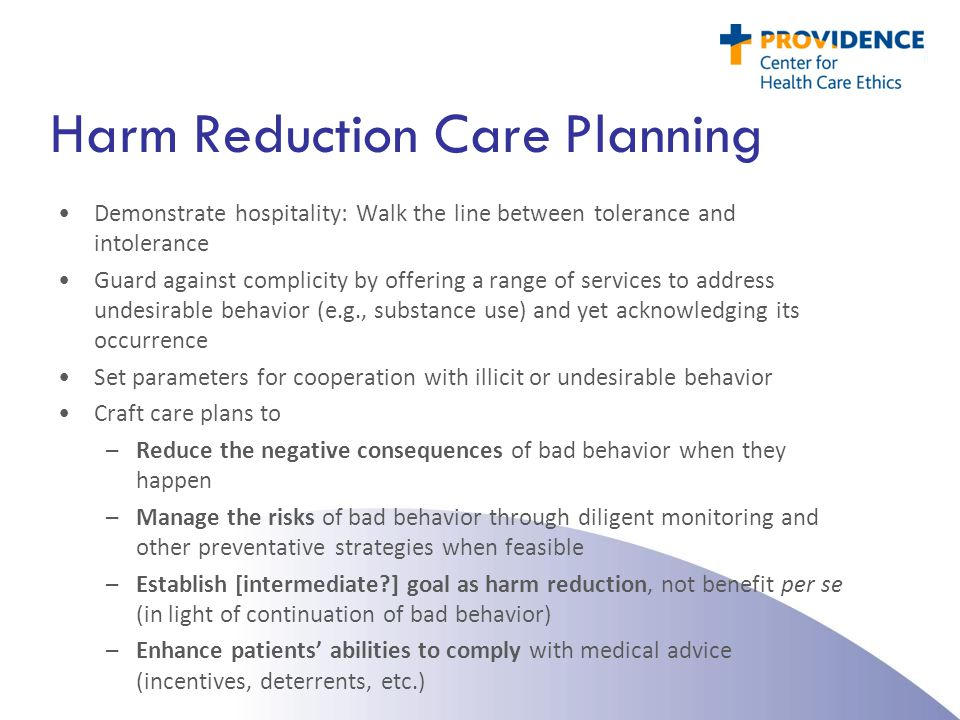 Harm Reduction Care Planning