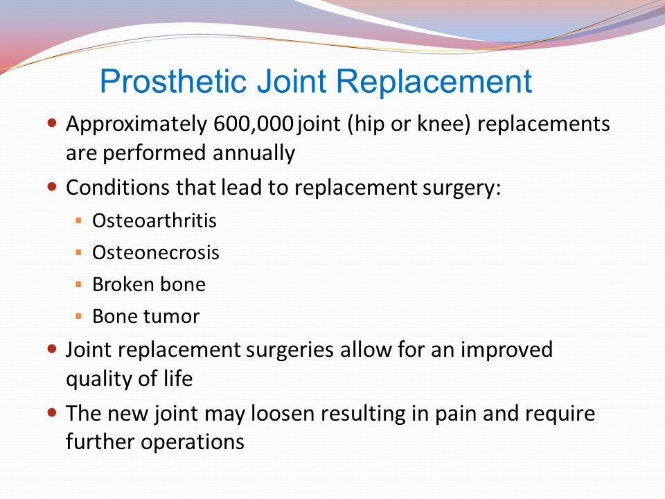 Prosthetic Joint Replacement