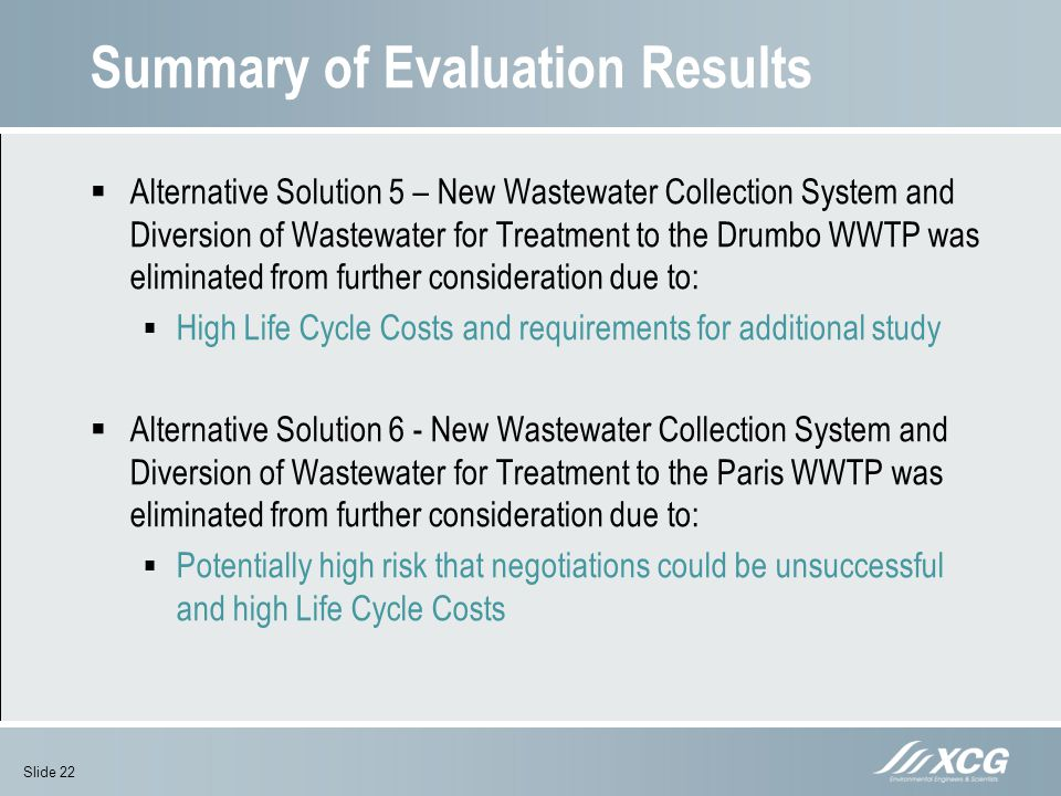 Summary of Evaluation Results
