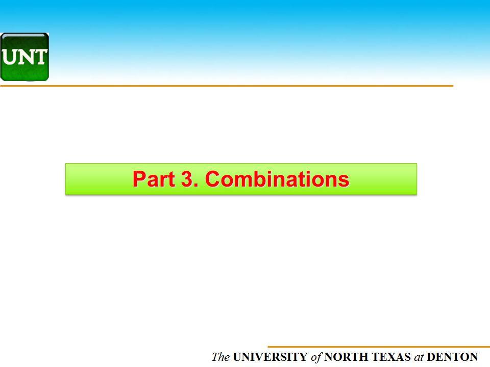 Part 3. Combinations
