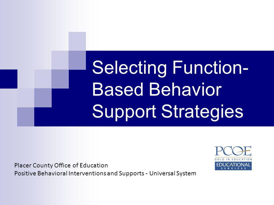 Selecting Function-Based Behavior Support Strategies