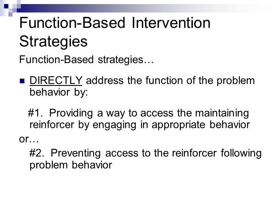 Function-Based Intervention Strategies