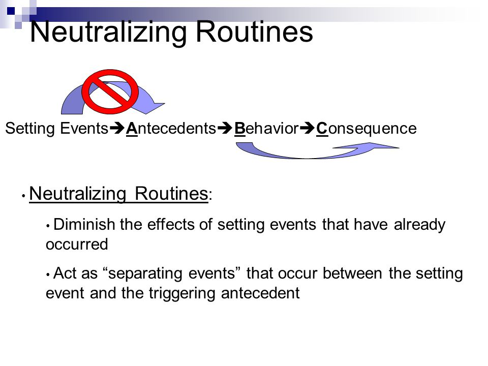 Neutralizing Routines