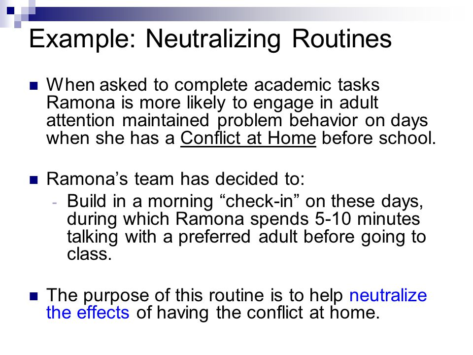 Example: Neutralizing Routines