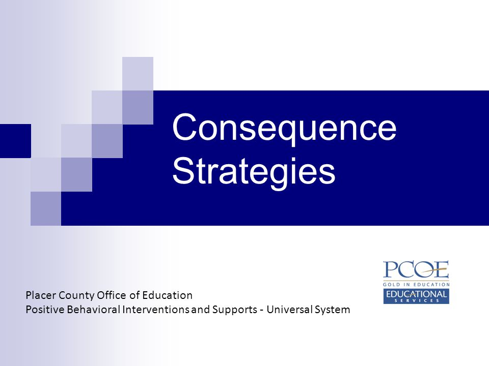 Consequence Strategies