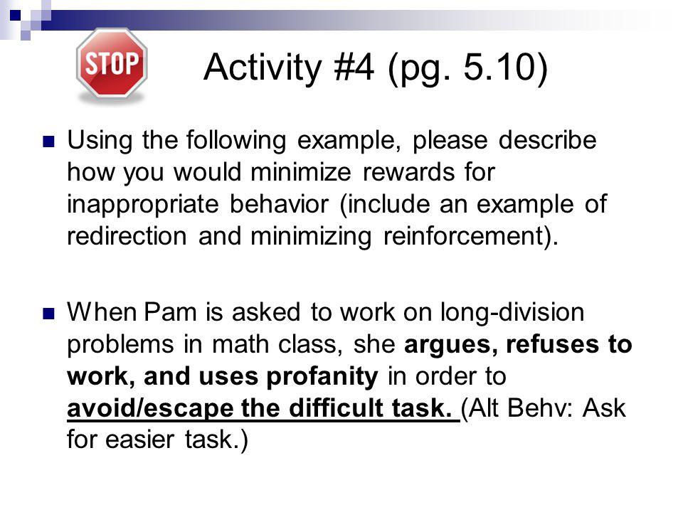 Activity #4 (pg. 5.10)