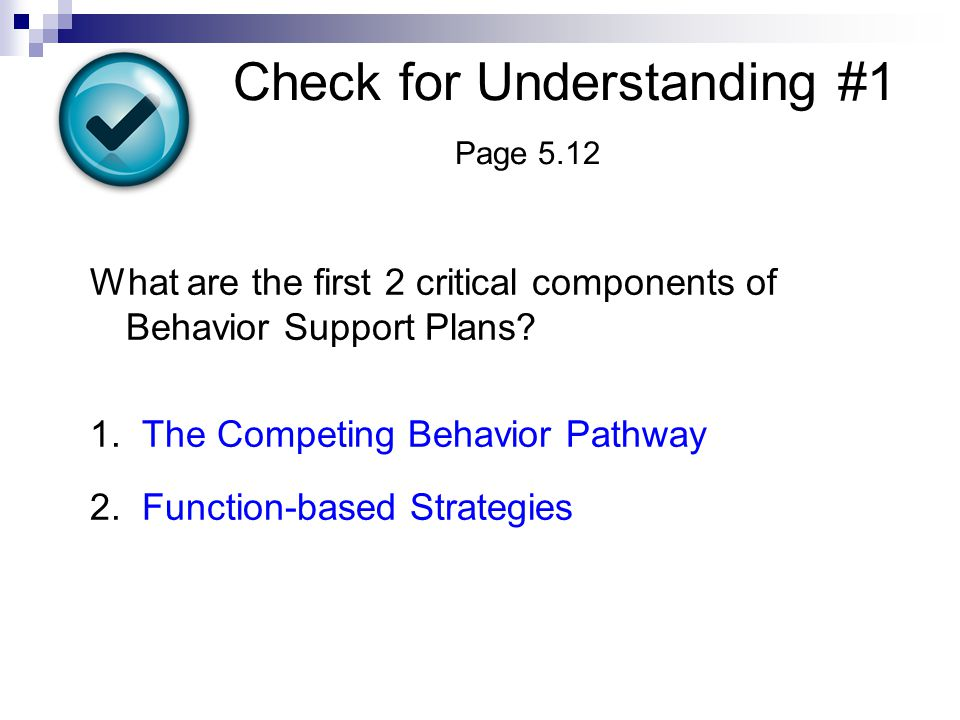 Check for Understanding #1 Page 5.12