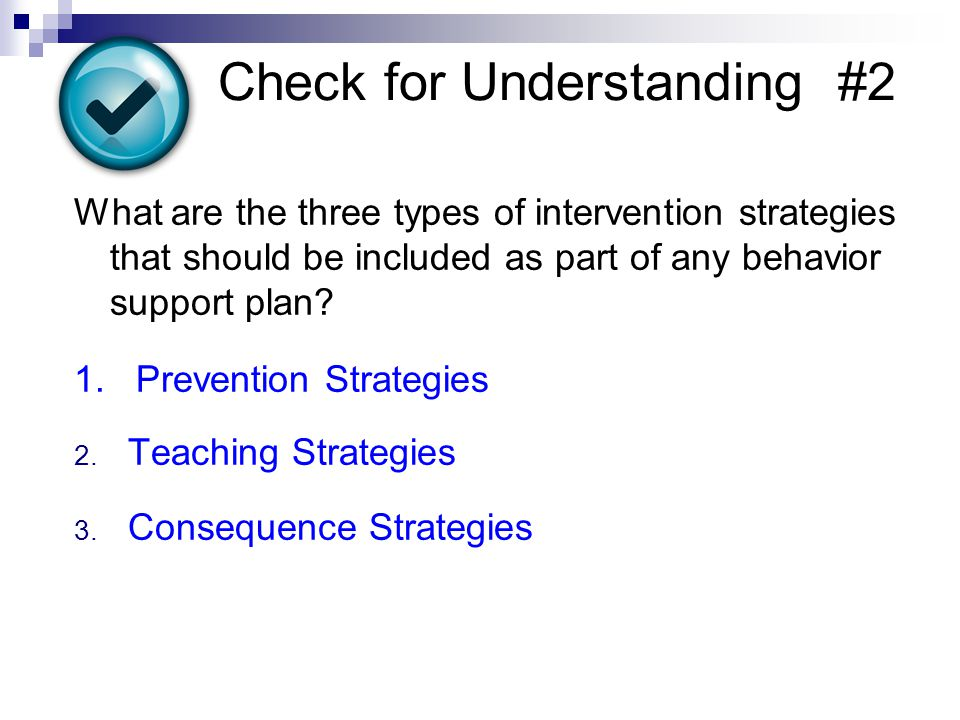 Check for Understanding #2