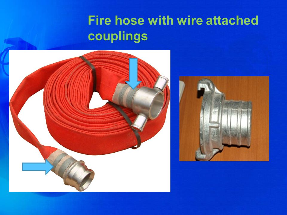 Fire hose with wire attached couplings