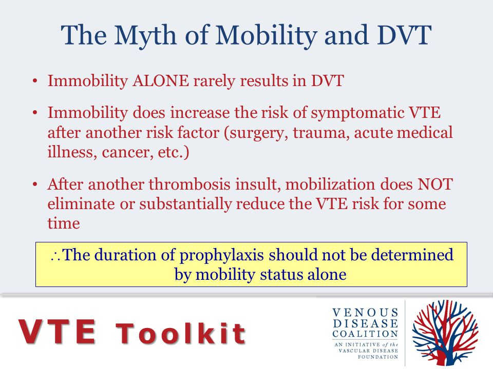 The Myth of Mobility and DVT