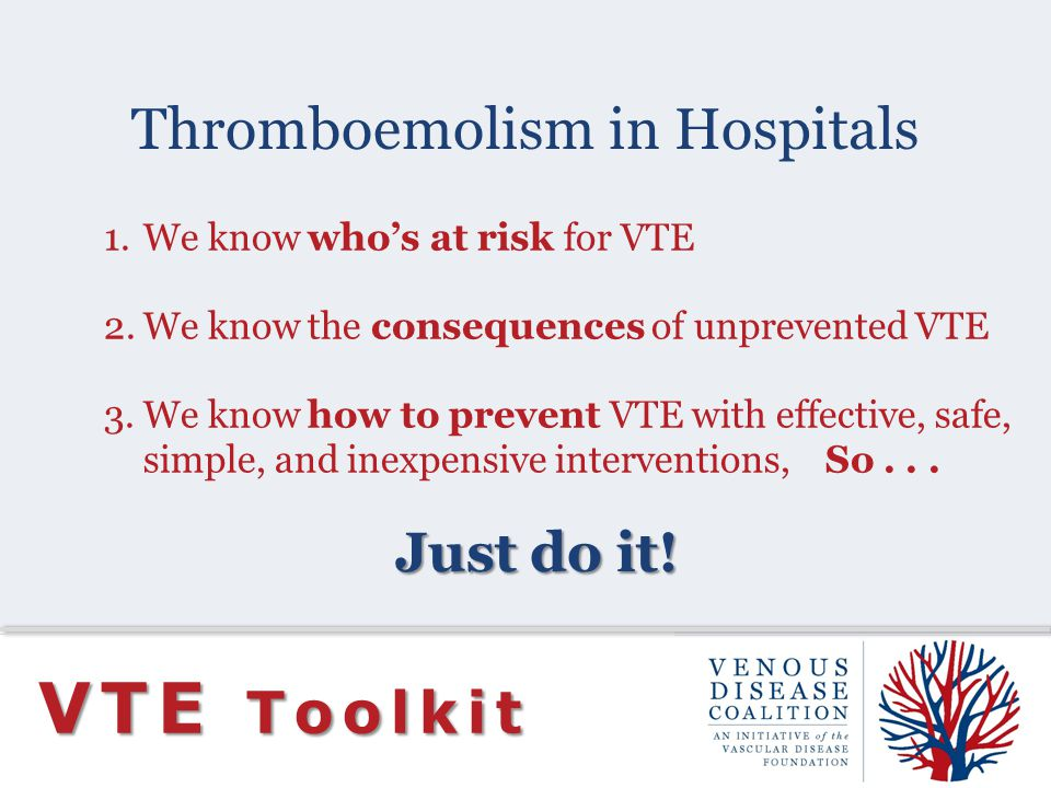 Thromboemolism in Hospitals