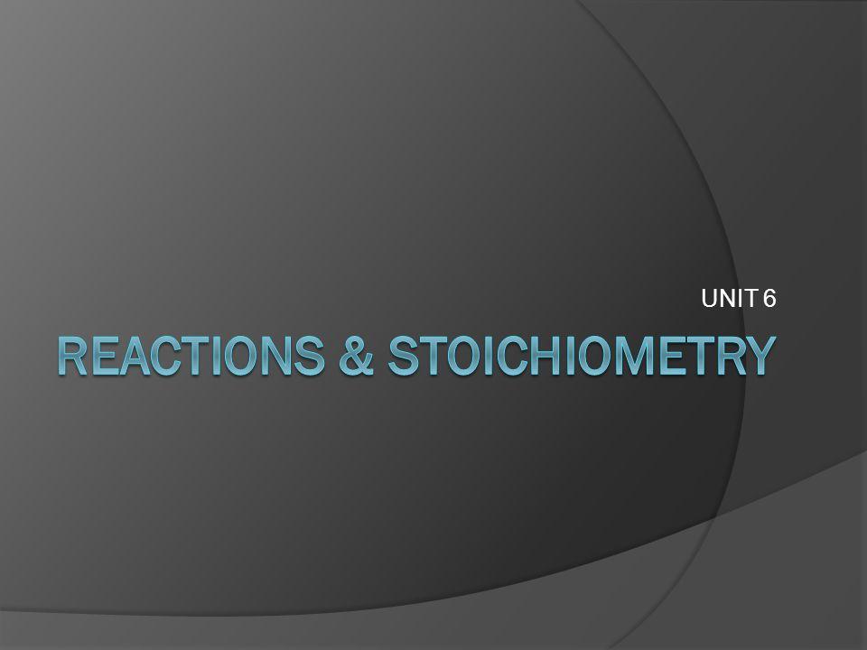 Reactions & Stoichiometry