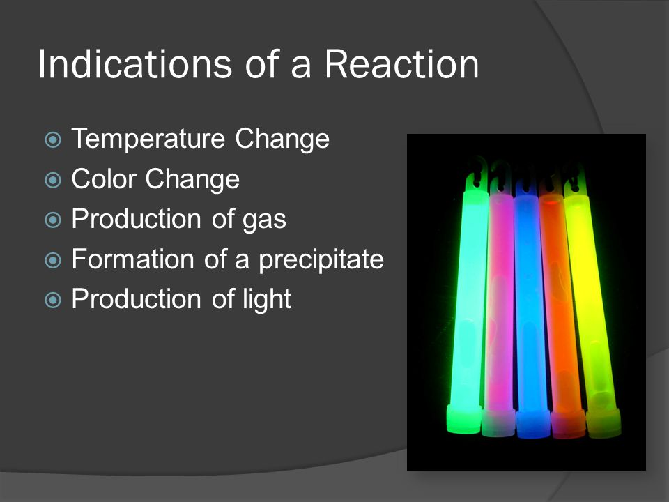 Indications of a Reaction