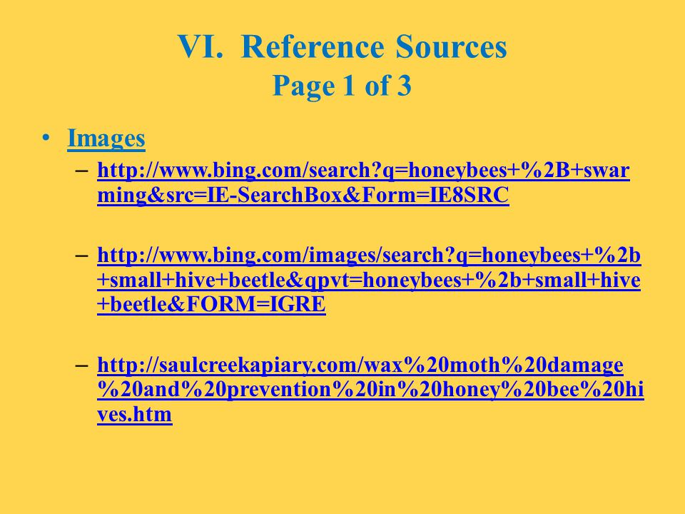 VI. Reference Sources Page 1 of 3