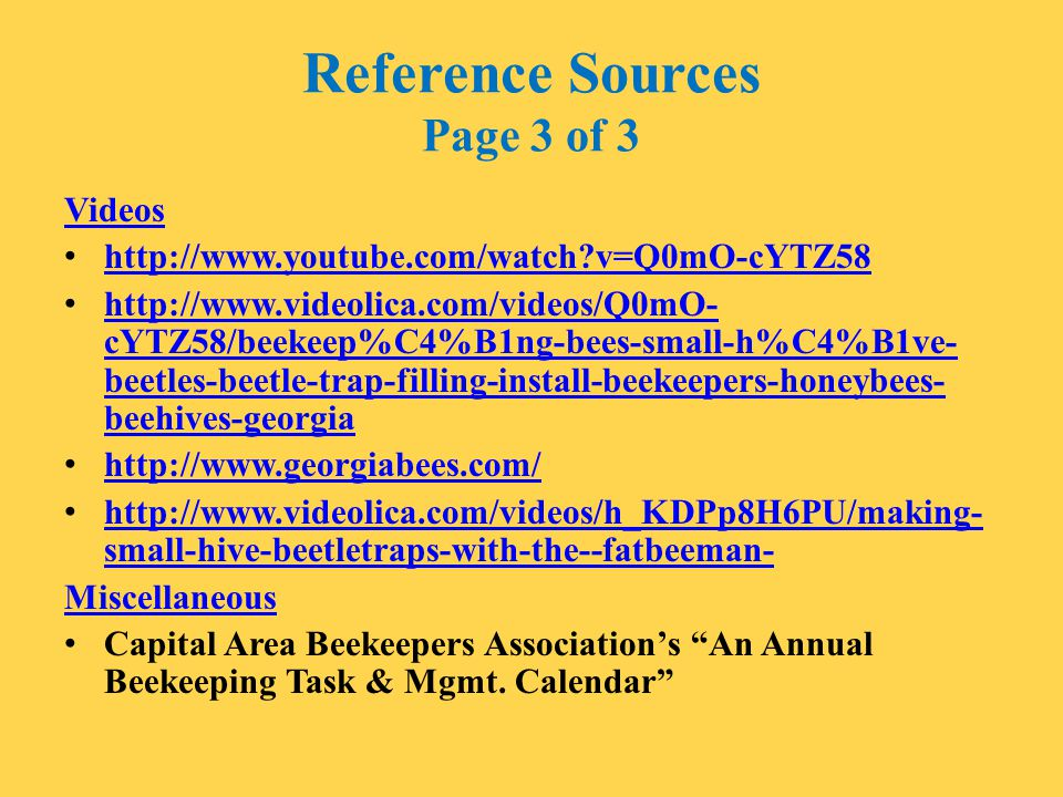 Reference Sources Page 3 of 3
