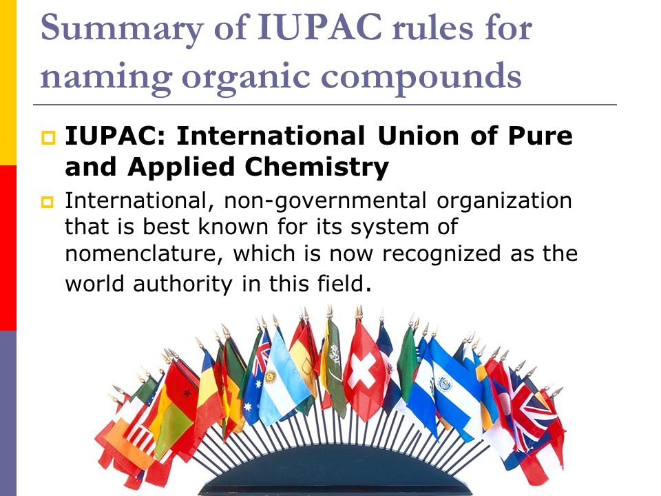 Summary of IUPAC rules for naming organic compounds