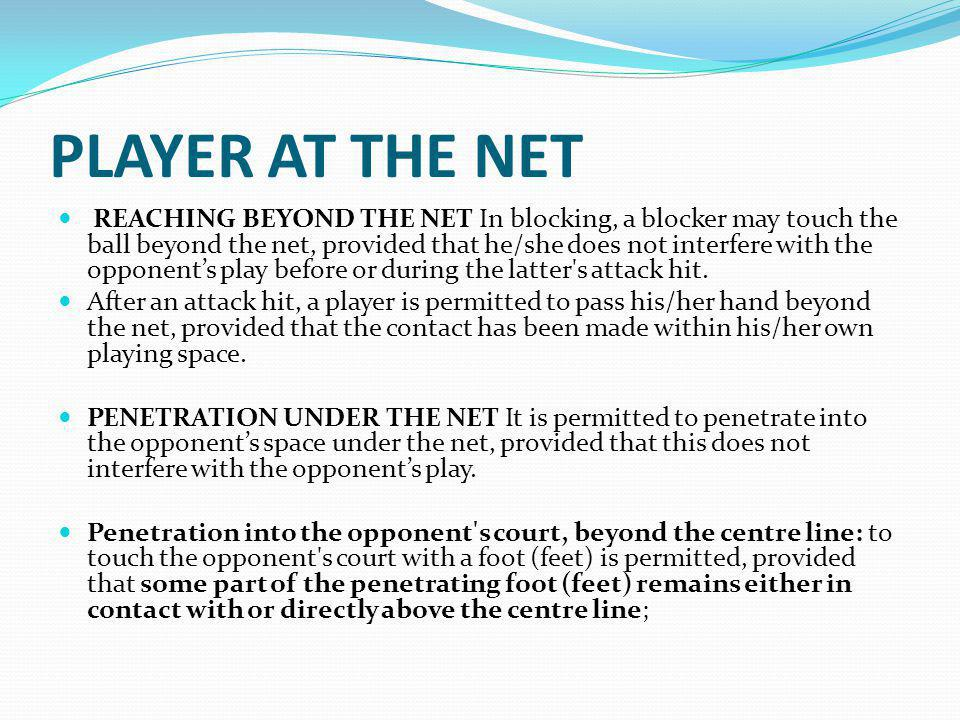 PLAYER AT THE NET