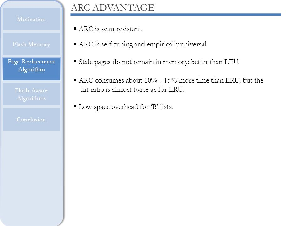 ARC ADVANTAGE ARC is scan-resistant.
