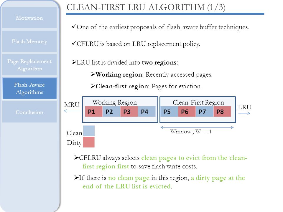 CLEAN-FIRST LRU ALGORITHM (1/3)