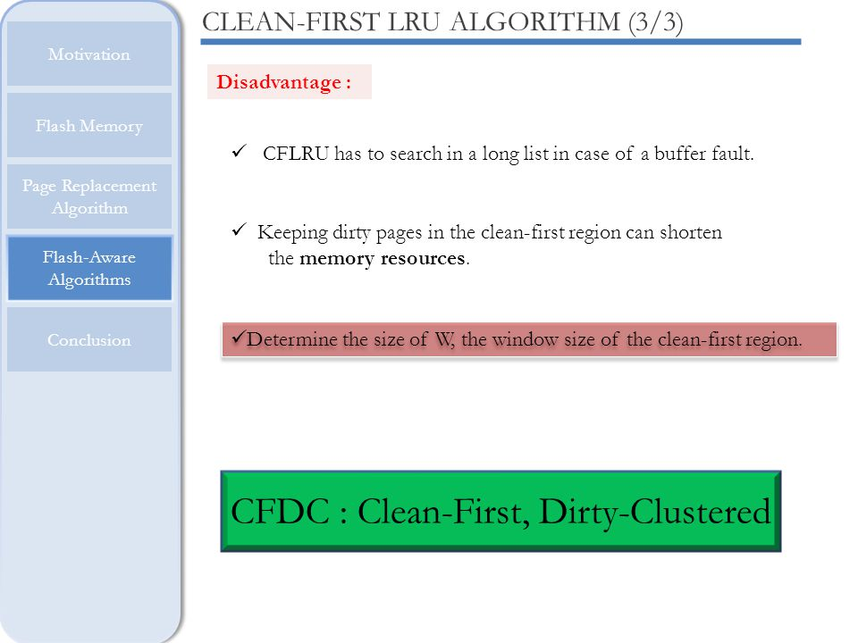 CFDC : Clean-First, Dirty-Clustered