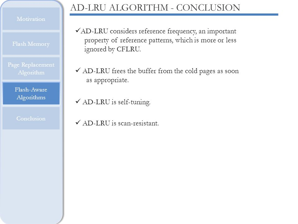 AD-LRU ALGORITHM - CONCLUSION