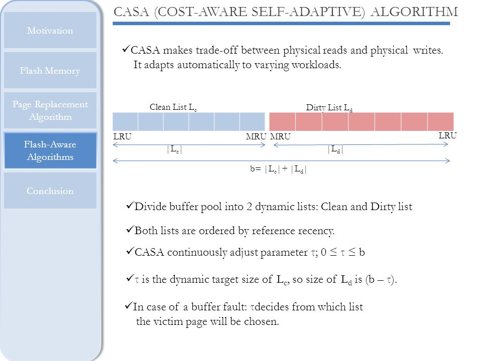 CASA (COST-AWARE SELF-ADAPTIVE) ALGORITHM