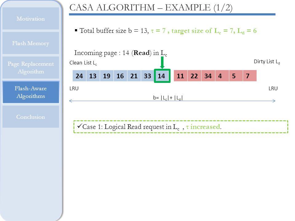 CASA ALGORITHM – EXAMPLE (1/2)