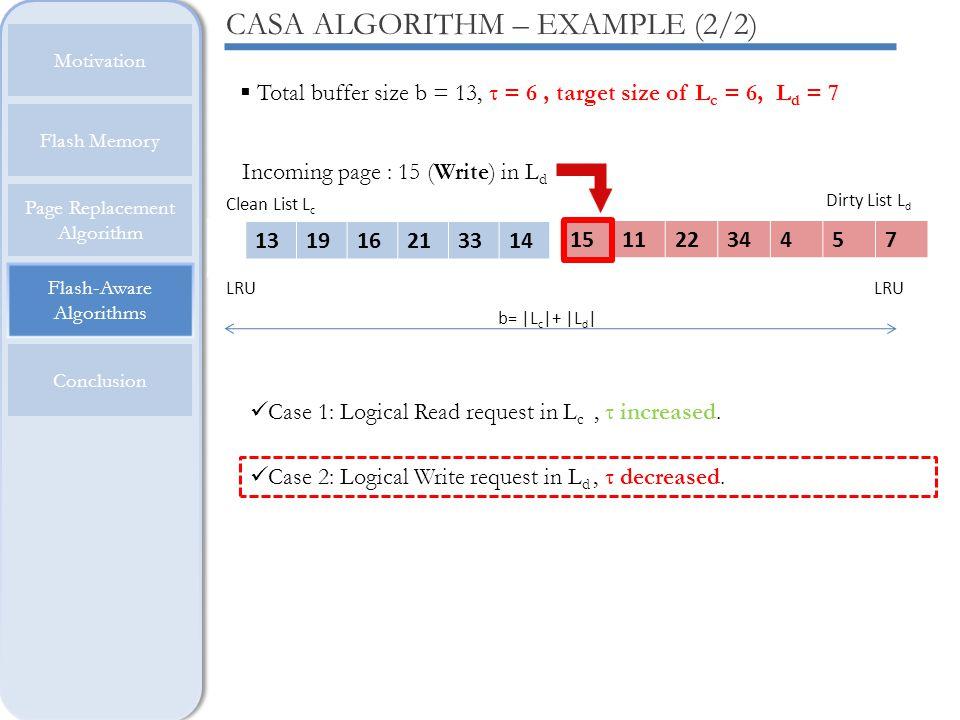 CASA ALGORITHM – EXAMPLE (2/2)