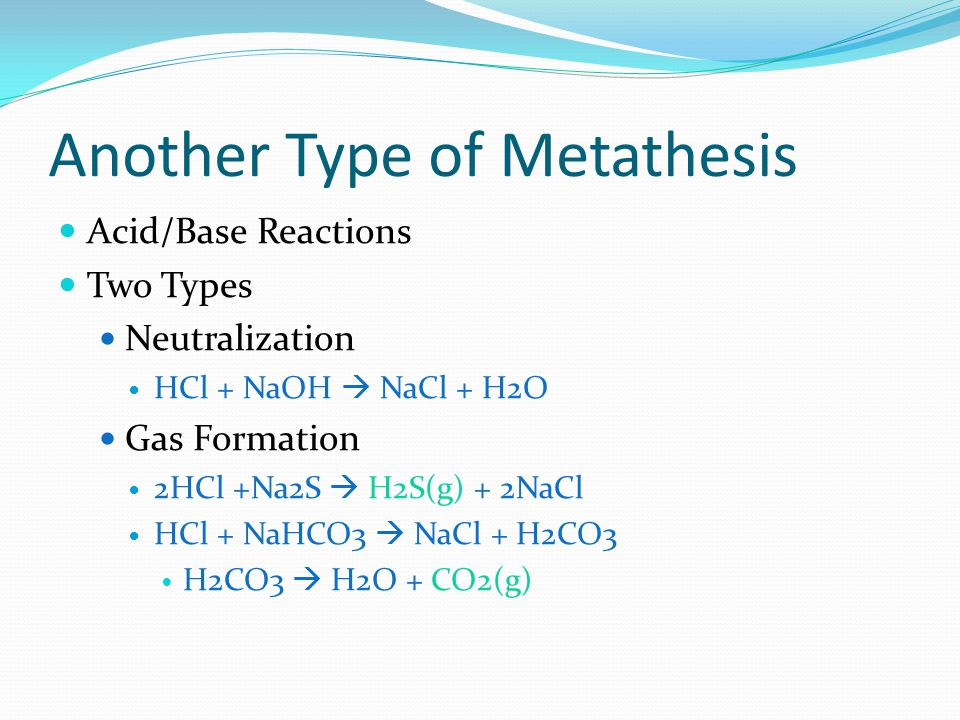 what is another name for a metathesis reaction • metathesis reactions occur when two ionic metathesis reactions aqueous solutions are mixed and the ions •a salt is another name for an ionic compound.