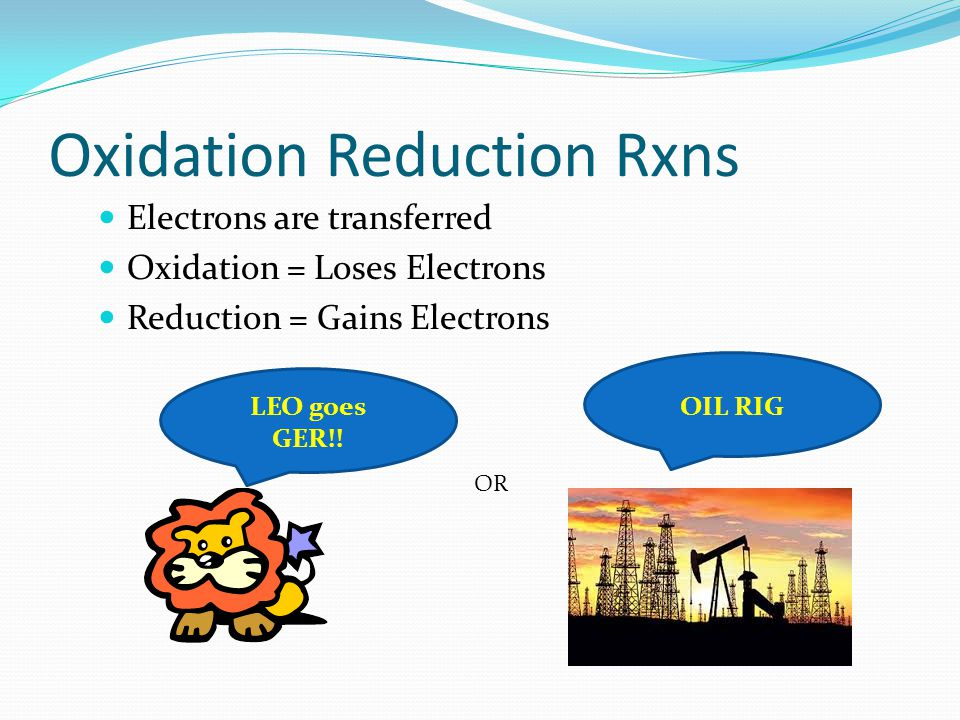 Oxidation Reduction Rxns
