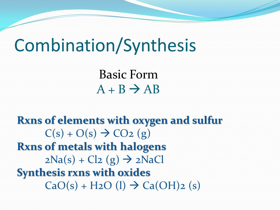 Combination/Synthesis