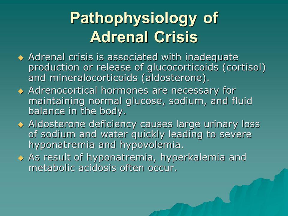 Pathophysiology of Adrenal Crisis