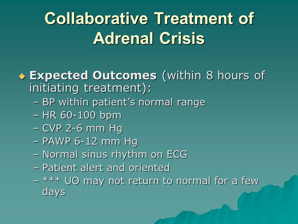 Collaborative Treatment of Adrenal Crisis