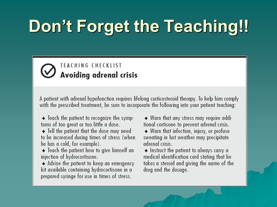 Don't Forget the Teaching!!