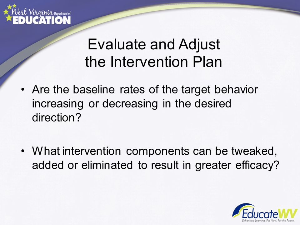 Evaluate and Adjust the Intervention Plan