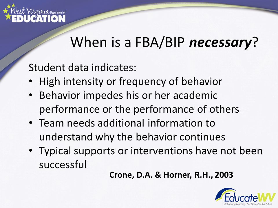 When is a FBA/BIP necessary