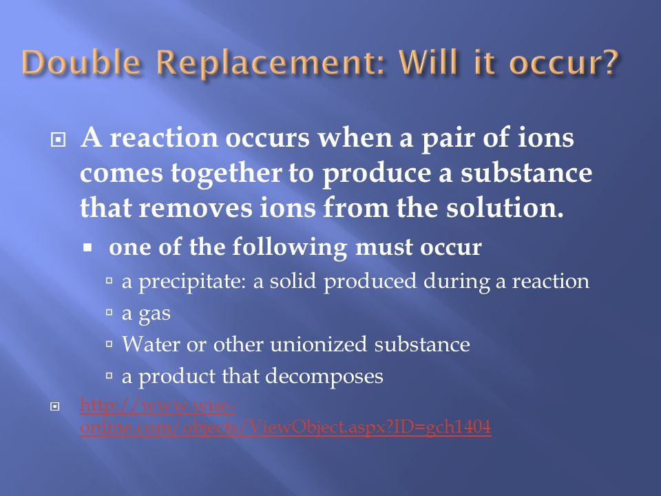 Double Replacement: Will it occur