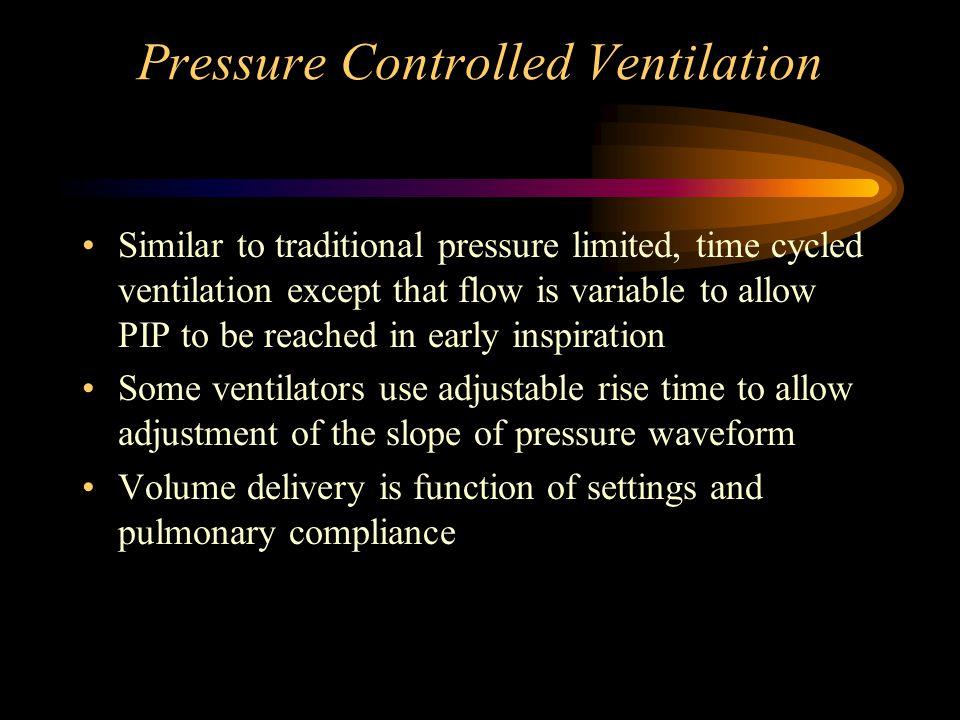 Pressure Controlled Ventilation