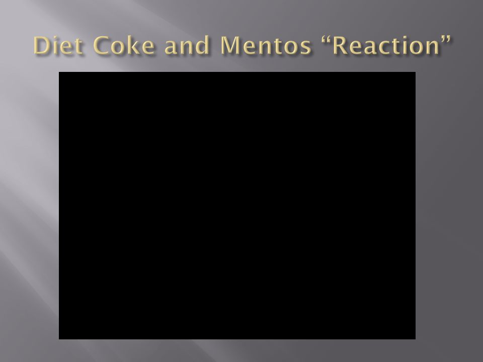 Diet Coke and Mentos Reaction