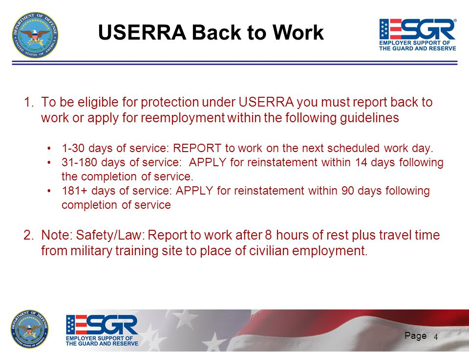 USERRA Back to Work faculty notes - 4/1/2017.