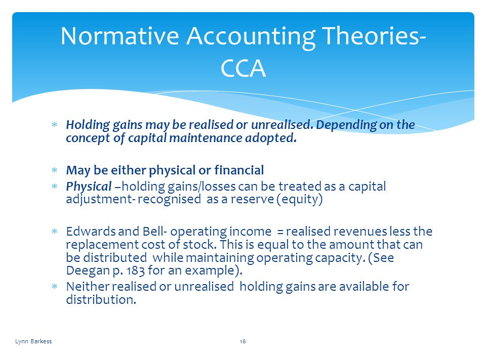 Normative Accounting Theories- CCA