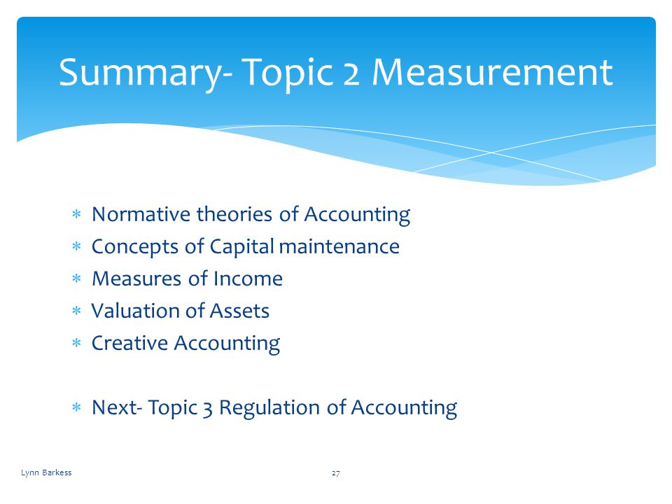 Summary- Topic 2 Measurement