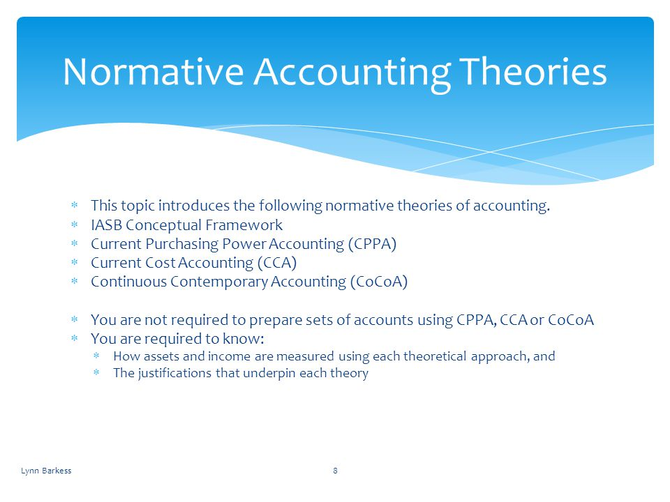 Normative Accounting Theories